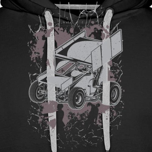 Winged Sprint Car Zombie - Men's Premium Hoodie
