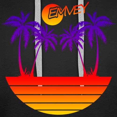 EMVEY - Palm Tree Sunset - Men's Premium Hoodie