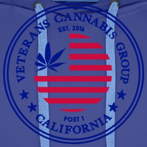 Veterans Cannabis Group & Black Brothers Mark Logo - Men's Premium Hoodie