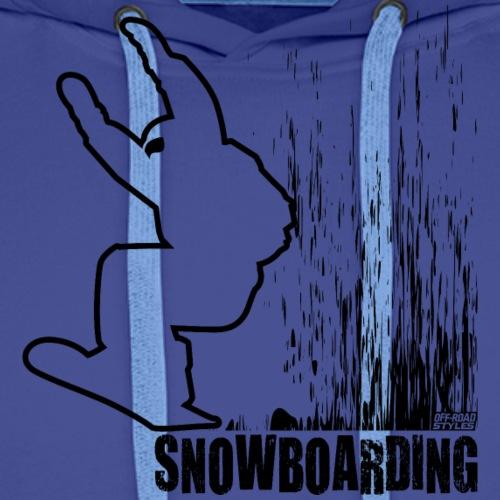 Snowboarder Snowboarding - Men's Premium Hoodie