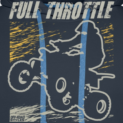ATV Quad Full Throttle - Men's Premium Hoodie