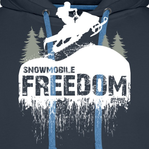 Snowmobile Freedom - Men's Premium Hoodie