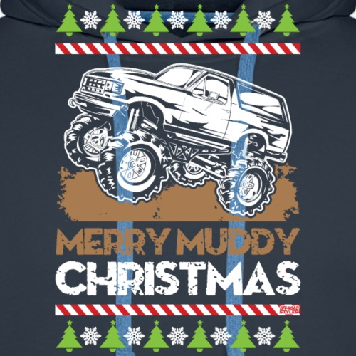 Mud Truck Ugly Christmas - Men's Premium Hoodie