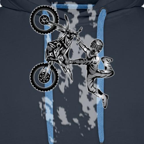 Dirt Biking Sky Flier - Men's Premium Hoodie