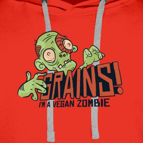 Grains vegan zombie shirt - Men's Premium Hoodie