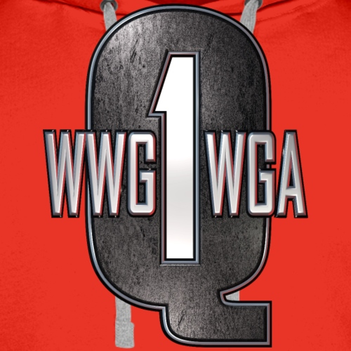 Q1 Distressed Metal WWG1WGA - Men's Premium Hoodie