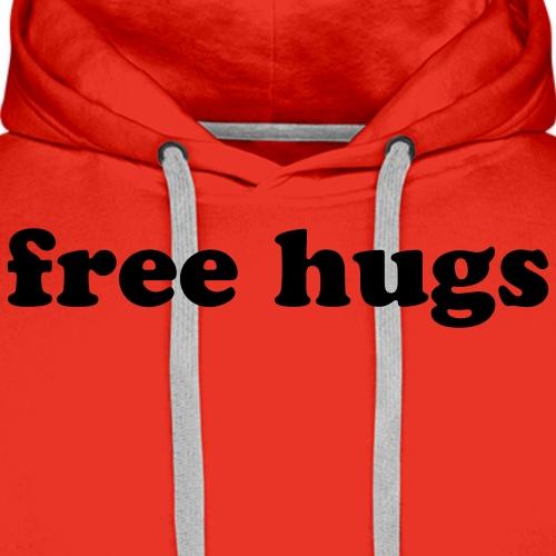 Free Hugs Quote - Men's Premium Hoodie
