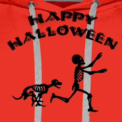 Halloween Boy and Dog - Men's Premium Hoodie