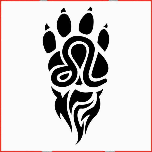 Black Leo Zodiac Sign