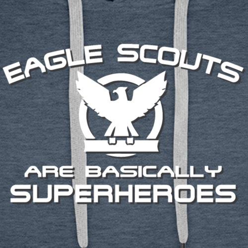Eagle Scouts Are Superheroes T-Shirt - Men's Premium Hoodie