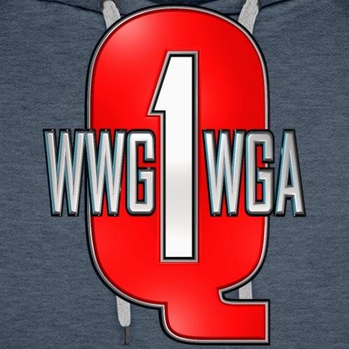Q1 Red Varsity WWG1WGA - Men's Premium Hoodie