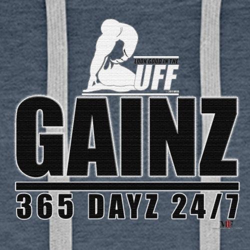 GAINZ 365 DAYZ - Men's Premium Hoodie