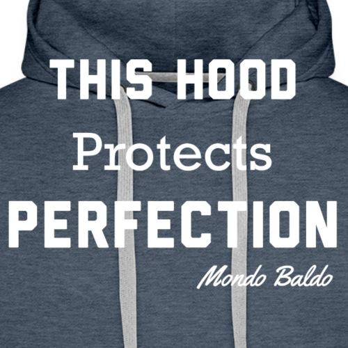 This Hood Protects Perfection - Bald Hoodie - Men's Premium Hoodie