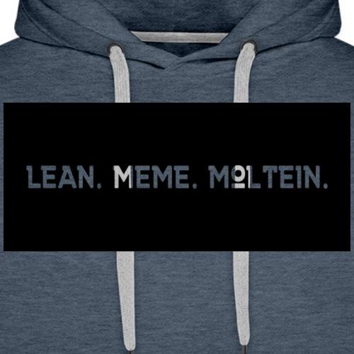Lean. Meme. Moltein. - Men's Premium Hoodie