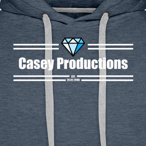 White Casey Productions Design - Men's Premium Hoodie