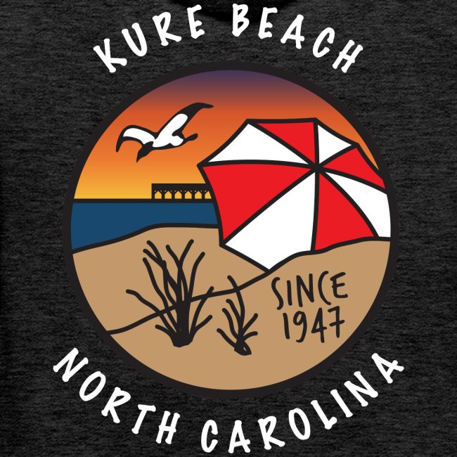Kure Beach Sunrise-White Lettering-Front and Back