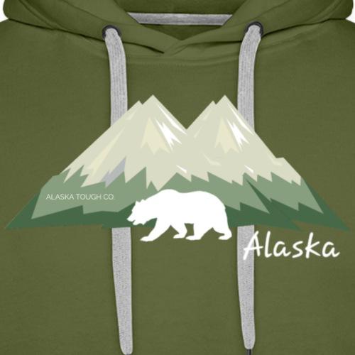 Alaskan Mountain and Bear - Men's Premium Hoodie