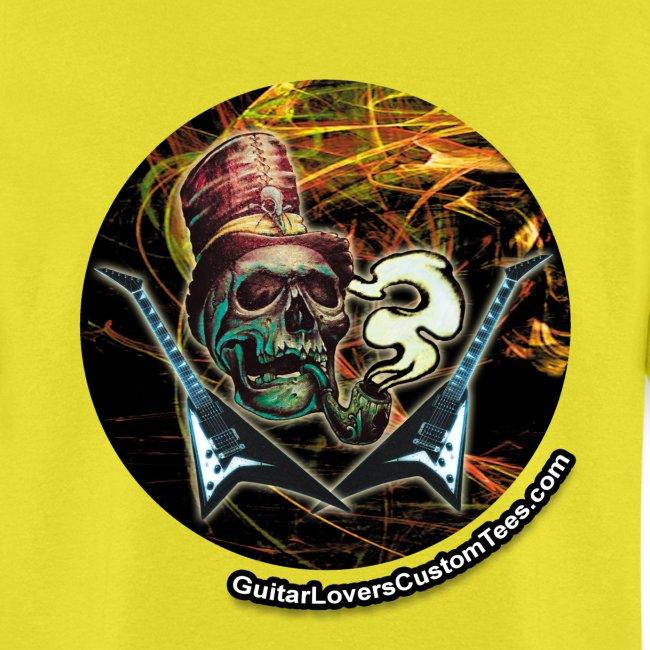 GuitarSmokingSkullLogo by GuitarLoversCustomTees p