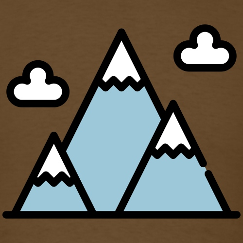 The Mountains - Men's T-Shirt