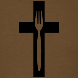 scross and fork - Men's T-Shirt