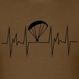 paragliding heartbeat - Men's T-Shirt