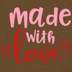 Made With Love Baby Infant Valentine - Men's T-Shirt