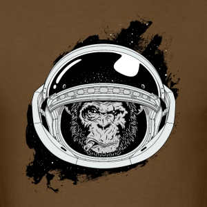 Space monkey Black and white Art - Men's T-Shirt
