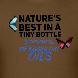 natures best in a tiny bottle, essential oils - Men's T-Shirt