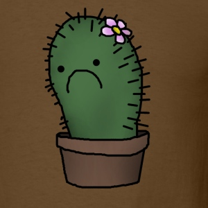 sad cactus - Men's T-Shirt