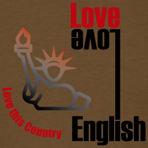 Love English, love USA - Men's T-Shirt
