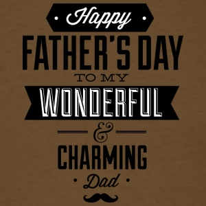 happy_father-s_day_to_wonderfull_dad_black - Men's T-Shirt