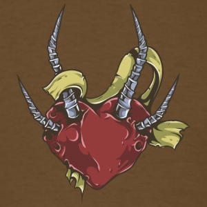 heart_with_metal_fingers - Men's T-Shirt