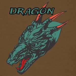Wild_dragon_with_three_horns_color - Men's T-Shirt