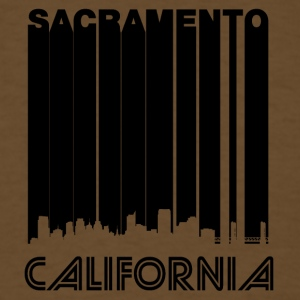 Retro Sacramento Skyline - Men's T-Shirt