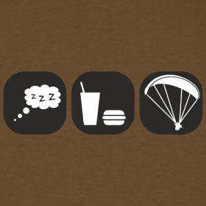 eat sleep paragliding - Men's T-Shirt