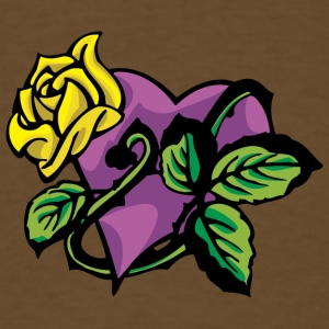 purple_heart_with_yellow_rose - Men's T-Shirt