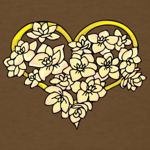 yellow_heart_with_flowers - Men's T-Shirt