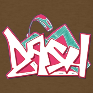 asa_graffiti_hand_drawn_pink_back - Men's T-Shirt