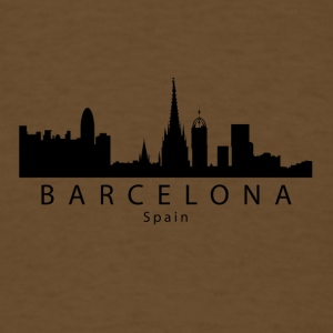 Barcelona Spain Skyline - Men's T-Shirt