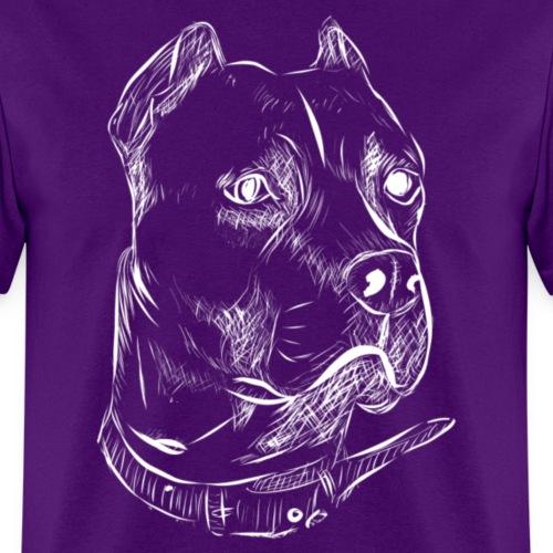 Dog Head | White - Men's T-Shirt