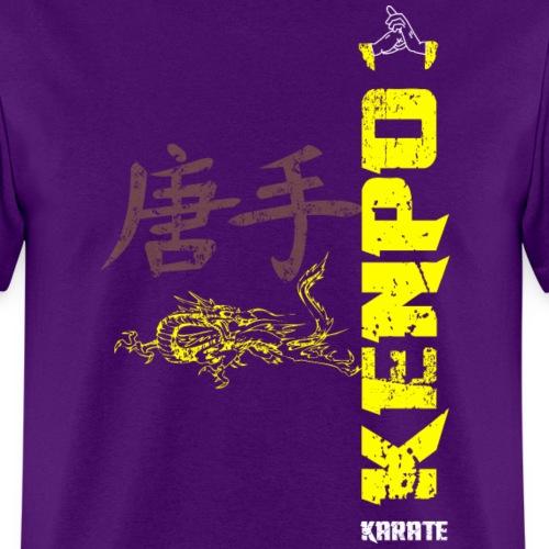 vertical kenpo with chinese kanji & dragon yellow - Men's T-Shirt