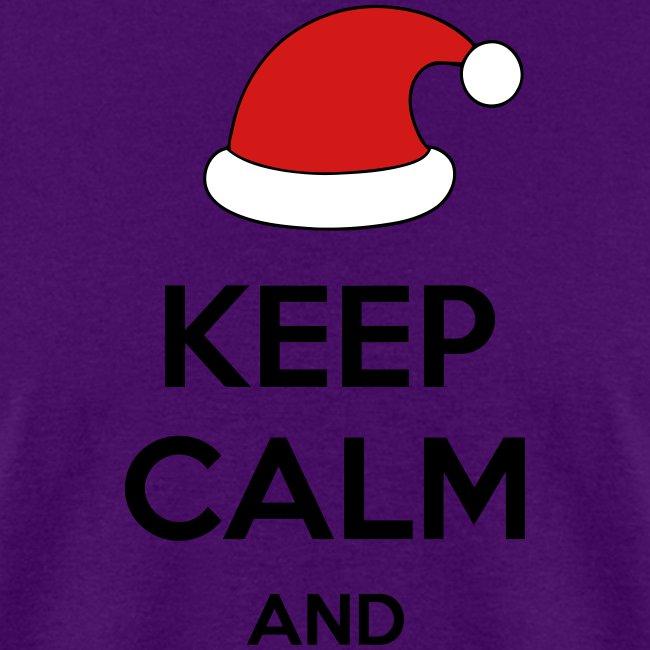 Keep Calm Christmas.Keep Calm And Xmas Santa Edition Internet Meme Men S T Shirt