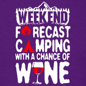 Camping With A Chance Of Wine T Shirt - Men's T-Shirt