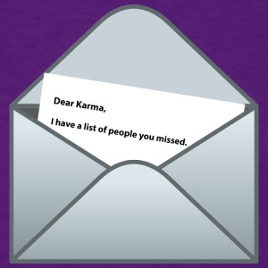 Karma letter - Men's T-Shirt