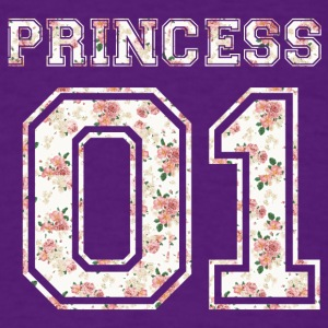 Princess_01_vintage_flower_bunt - Men's T-Shirt