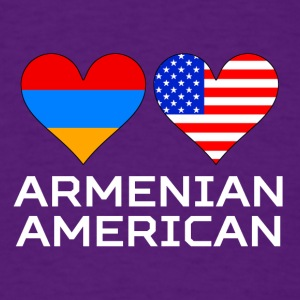Armenian American Hearts - Men's T-Shirt