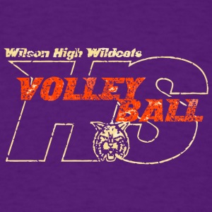 Wilson High Wildcats Volleyball HS - Men's T-Shirt