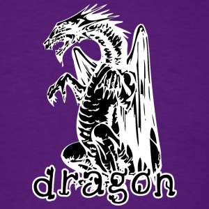 dog_style_sitting_dragon_black - Men's T-Shirt