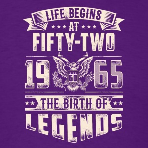 Life Begins At Fifty Two Tshirt - Men's T-Shirt