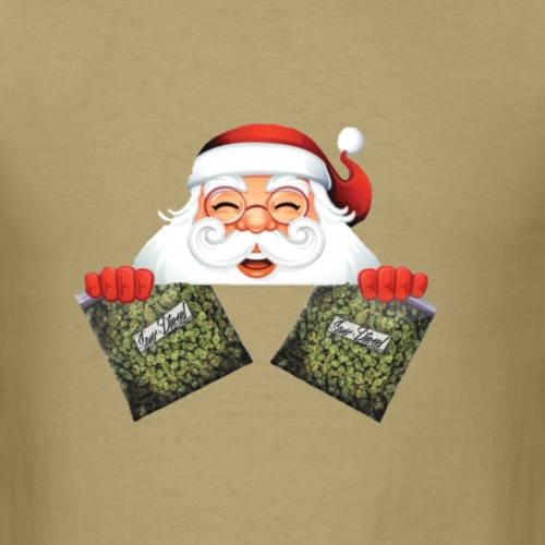Santa with marijuana gifts